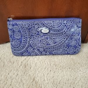 Handbags - Purple and white paisley clutch/wallet